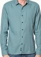 Mavi Uzun Kollu Gömlek Yeşil